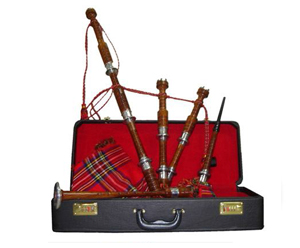 Bagpipes Set-Advanced. Ebony In Case