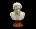 Bust 15cm-Crush Marble Beethoven.Patina