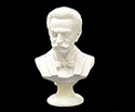 Bust 15cm-Crushed Marble J.Strauss