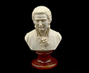 Bust 15cm-Crush Marble Mozart.Patina
