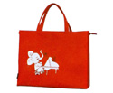 Music Carry Bag-Wide Red Elephant Piano