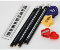 Stationery Set-Pen/Shar/Ruler/Clips