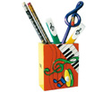 Pen Holder-Green Clef