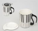 Mug with Lid-Piano Keys