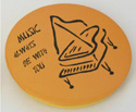 Money Deposit Can - Yellow w/Piano