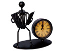Clock (Metal 12x12cm) Accordionist