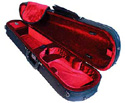 Shaped Violin Case-L/Wght Pro-Blk/Wine