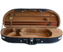 Half Moon Violin Case-TG Lightweight Black/Tan 4/4