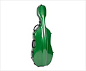 Cello Case-Fibreglass HQ Deluxe-Green