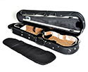 Shaped Violin CaseHQ Lightweight Pro Black/Tan