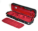 Oblong Violin Case-HQ Woodshell-Black/Wine