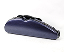 Half Moon Violin Case-HQ Polycarbonate-Brushed Blue