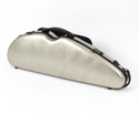 Half Moon Violin Case-HQ Polycarbonate-Br.Champagne