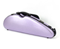 Half Moon Violin Case-HQ Polycarbonate-Brushed Mauve
