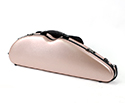 Half Moon Violin Case-HQ Polycarbonate-Br.Rose Gold
