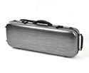 Oblong Violin Case-HQ Polycarbonate-Brushed Black&Silv