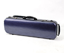 Oblong Violin Case-HQ Polycarbonate-Brushed Blue