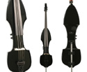 Riley Upright Electric Double Bass In Bag-Black