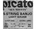 Picato Banjo Set - 5-Str Nickel (9-20) 87L