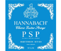 Hannabach Classic Set-P-Smooth-Polish Blue