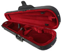 Shaped Violin Case-Bobelock Wine Velr
