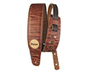 Basso Guitar Strap - Vintage Embossed Brown Leather VTSL01