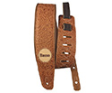Basso Guitar Strap - Floral Leather Whiskey VTSL83