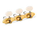 Schaller GrandTune Classic Hauser SatinGold/Galalith Deluxe White rollers