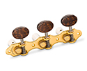 Schaller GrandTune Classic Hauser SatinGold/Snakewood White rollers